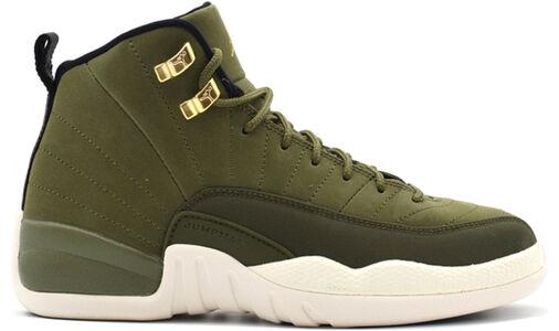 Air Jordan 12 Retro BG Olive Canvas 籃球鞋/運動鞋 (153265-301) 海外預訂