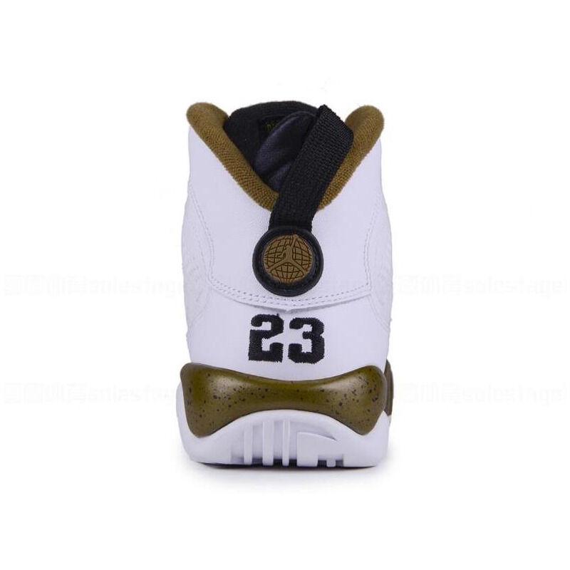 Air Jordan 9 Retro'Statue' BG White/Black-Militia Green 籃球鞋/運動鞋 (302359-109) 海外預訂