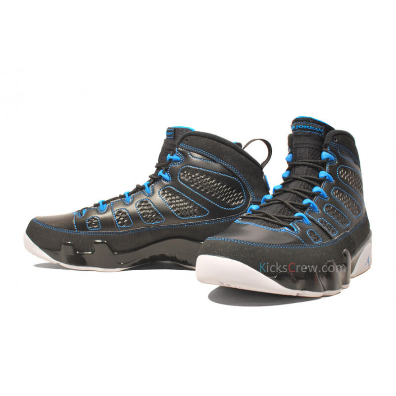 Air Jordan 9 Retro Black Photo blue 籃球鞋/運動鞋 (302370-007) 海外預訂