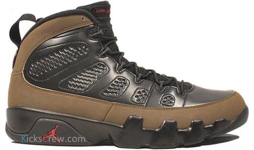 Air Jordan 9 Retro Black Olive 籃球鞋/運動鞋 (302370-020) 海外預訂
