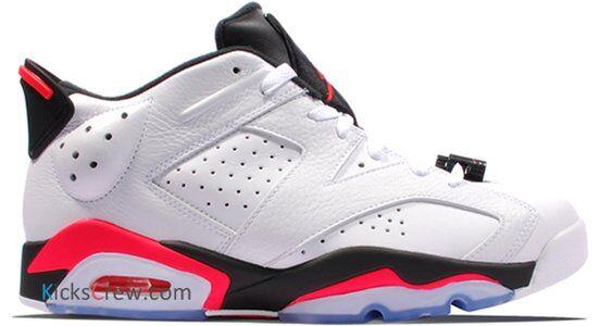 Air Jordan 6 Retro Low White Infrared 籃球鞋/運動鞋 (304401-123) 海外預訂
