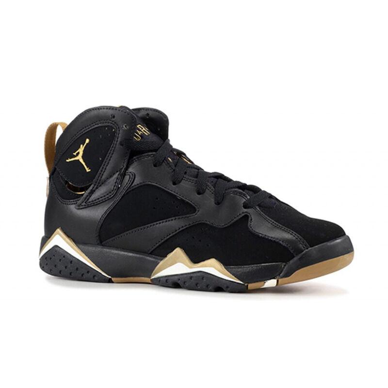 Air Jordan 7 Retro'Golden Momemts' GS Black/Metallic Gold-Sail 籃球鞋/運動鞋 (304774-030) 海外預訂