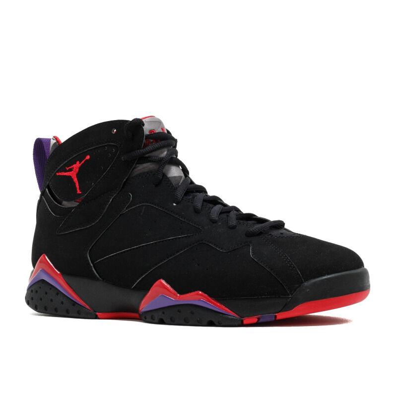 Air Jordan 7 Retro 'Raptor' 2012 Black/Tr Rd-Drk Chrcl-Clb Prpl 籃球鞋/運動鞋 (304775-018) 海外預訂