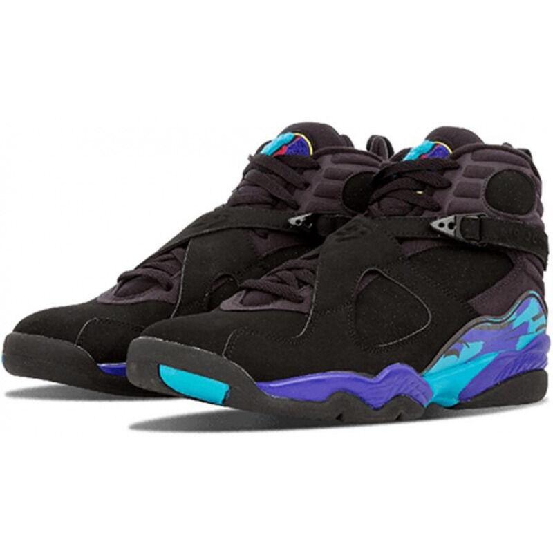 Air Jordan 8 Retro 'Aqua' 2007 Black/Bright Concord-Aqua Tone 籃球鞋/運動鞋 (305381-041) 海外預訂