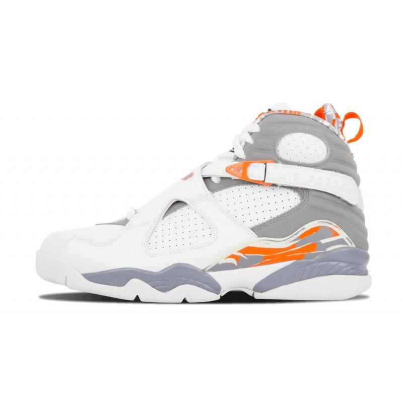 Air Jordan 8 Retro 'Orange Blaze' White/Stealth-Orange Blaze-Silver 籃球鞋/運動鞋 (305381-102) 海外預訂