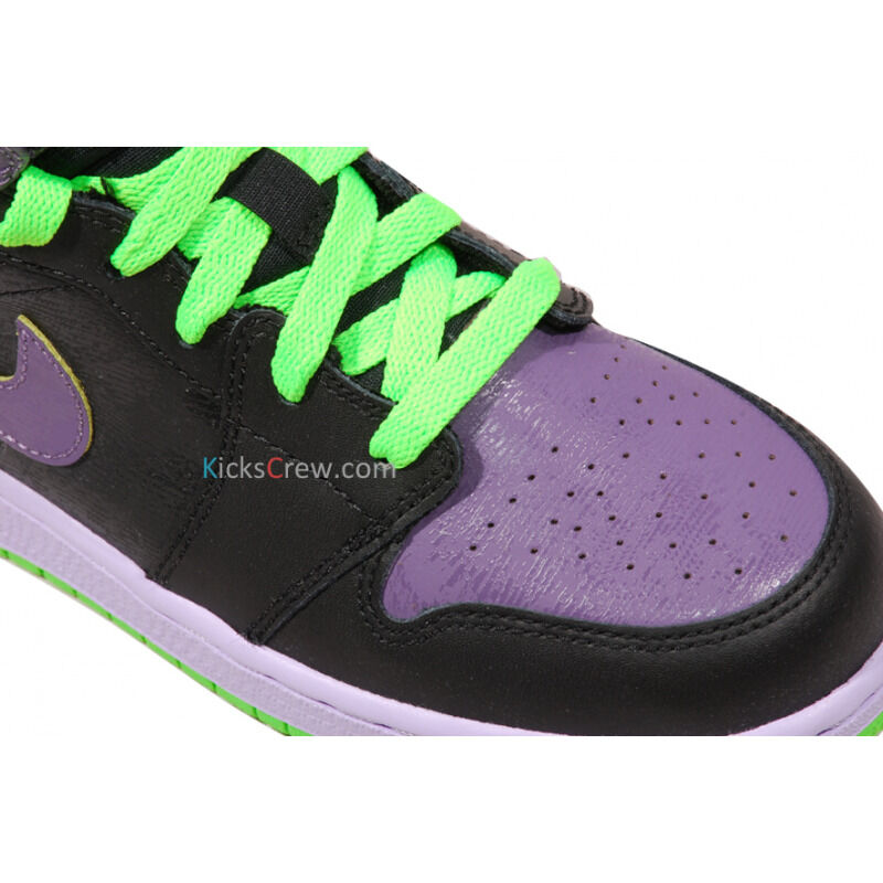 Air Jordan 1 Retro High GS Black Electric Green Purple 籃球鞋/運動鞋 (307383-021) 海外預訂