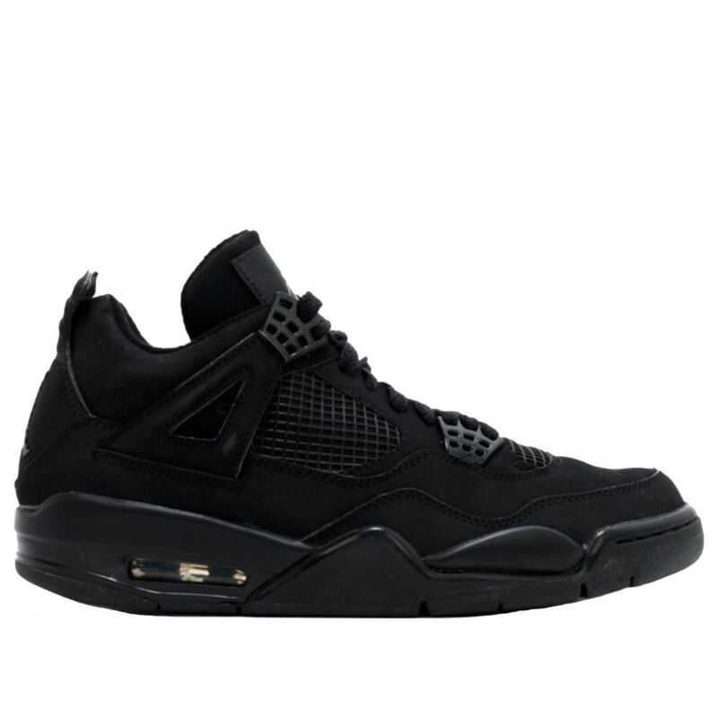 Air Jordan 4 Retro 'Black Cat' 2006 Black/Black/Light Graphite 籃球鞋/運動鞋 (308497-002) 海外預訂