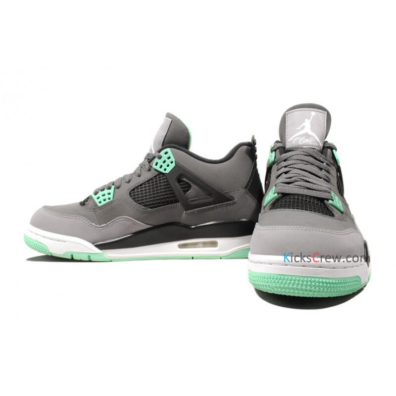 Air Jordan 4 Retro Dark Grey Green Glow 籃球鞋/運動鞋 (308497-033) 海外預訂