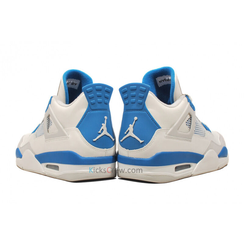 Air Jordan 4 Retro White Military Blue Grey 籃球鞋/運動鞋 (308497-105) 海外預訂