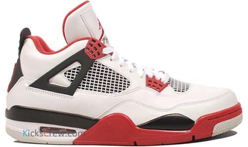 Air Jordan 4 Retro Fire Red 籃球鞋/運動鞋 (308497-110) 海外預訂