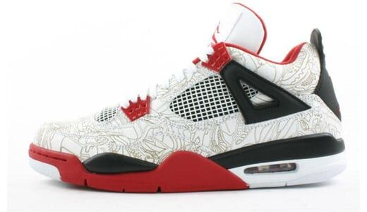 Air Jordan 4 Retro 'Laser' 2005 White/Varsity Red-Black 籃球鞋/運動鞋 (308497-161) 海外預訂