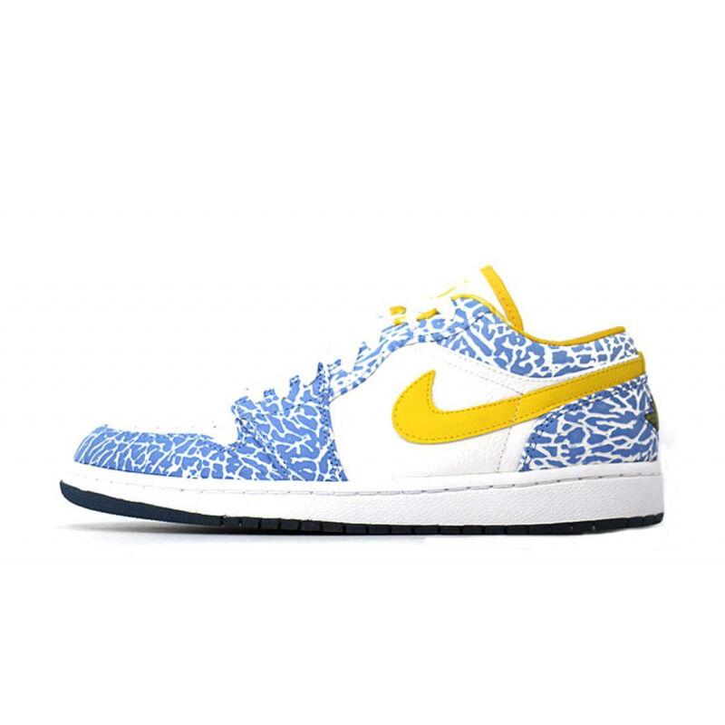Air Jordan 1 Retro Low 'West Coast' White/Varsity Maize-University Blue 籃球鞋/運動鞋 (309192-172) 海外預訂