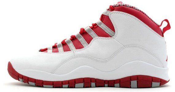 Air Jordan 10 Retro 'Red Steel' 2005 White/Varsity Red-Light Steel Grey 籃球鞋/運動鞋 (310805-161) 海外預訂