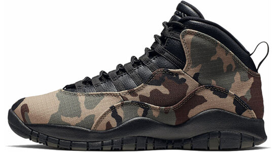 Air Jordan 10 Retro Woodland Camo 籃球鞋/運動鞋 (310805-201) 海外預訂