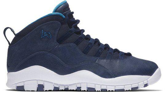 Air Jordan 10 Retro 'Los Angeles' Ocean Fog/Blue Lagoon-Midnight Navy 籃球鞋/運動鞋 (310805-404) 海外預訂