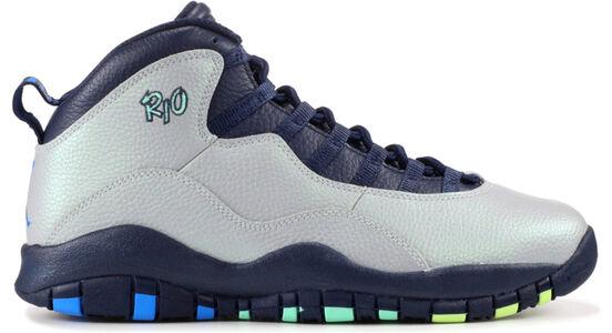 Air Jordan 10 Retro'Rio' BG Wolf Grey/Photo Blue-Obsidian-Green Glow 籃球鞋/運動鞋 (310806-019) 海外預訂