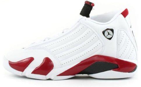 Air Jordan 14 Retro 'Candy Cane' 2006 White/Black/Varsity Red 籃球鞋/運動鞋 (311832-101) 海外預訂