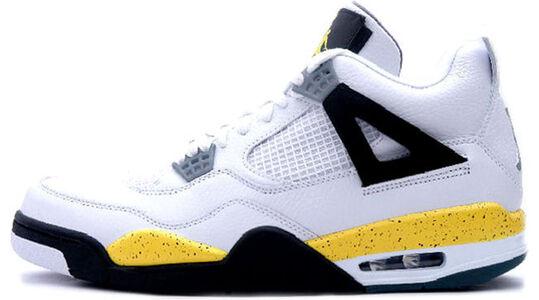 Air Jordan 4 Retro LS 'Tour Yellow' White/Tour Yellow-Dark Blue Grey-Black 籃球鞋/運動鞋 (314254-171) 海外預訂