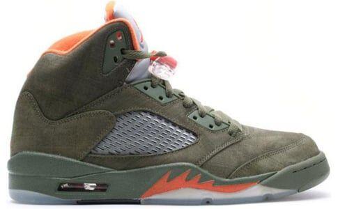 Air Jordan 5 Retro LS 'Olive' Army Olive/Solar Orange-Black 籃球鞋/運動鞋 (314259-381) 海外預訂