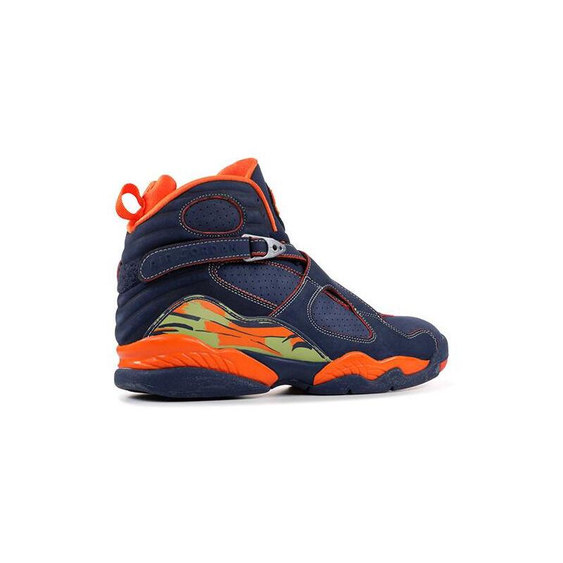 Air Jordan 8 Retro LS 'Pea Pods' Midnight Navy/Pea Pod-Orange Blaze 籃球鞋/運動鞋 (316324-481) 海外預訂