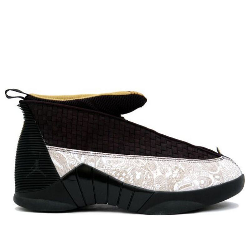 Air Jordan 15 Retro LS 'Laser' Black/Metallic Gold/White 籃球鞋/運動鞋 (317274-071) 海外預訂