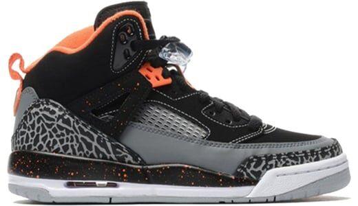 Jordan Spiz'ike'Black Electric Orange' GS Black/ELECTRIC ORANGE-COOL GREY-WOLF GREY 籃球鞋/運動鞋 (317321-080) 海外預訂