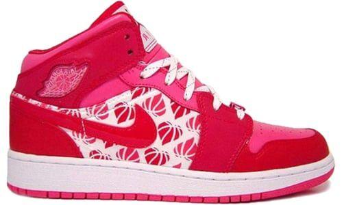 Air Jordan 1 Premium GS 'Valentine's Day' Brllnt Mgnt/Brllnt Mgnt-Lght R 籃球鞋/運動鞋 (322675-661) 海外預訂