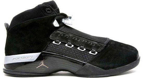 Air Jordan 17 Retro 'Countdown Pack' Black/Metallic Silver 籃球鞋/運動鞋 (322721-001) 海外預訂