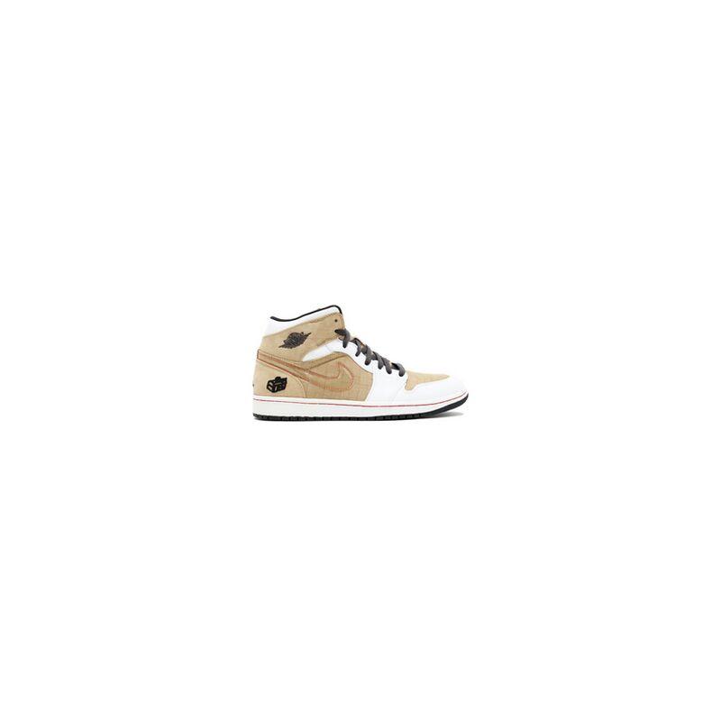Air Jordan 1 Retro 'Fathers Day' White/Dark Charcol-Tweed-Varsity Red 籃球鞋/運動鞋 (325514-101) 海外預訂