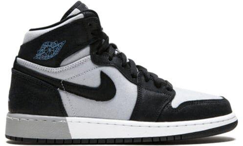 Air Jordan 1 Retro High'Aluminum' GS Black/Aluminum-White-Wolf Grey 籃球鞋/運動鞋 (332148-005) 海外預訂