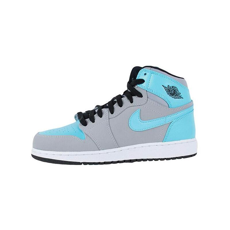 Air Jordan 1 Retro High'Tide Pool' GS wolf grey/tide pool blue-hot lava-black 籃球鞋/運動鞋 (332148-027) 海外預訂