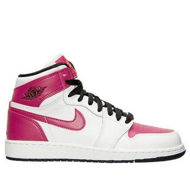 Air Jordan 1 Retro High'White Sport Fuchsia' GS White/Sport Fuchsia-Hot Lava-Black 籃球鞋/運動鞋 (332148-108) 海外預訂