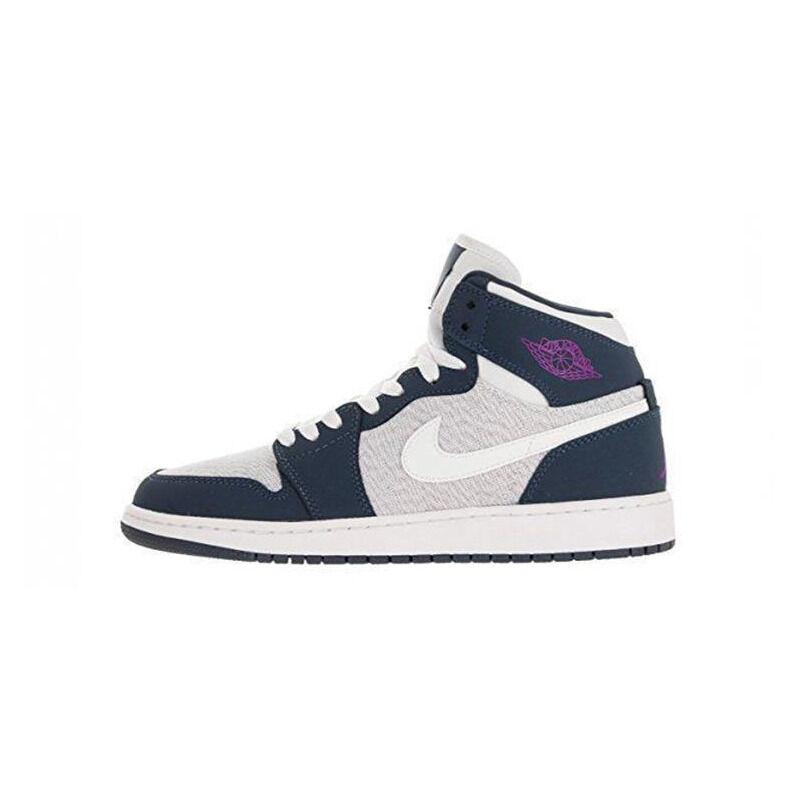 Air Jordan 1 Retro High'Squadron Blue' GG Sail/Hyper Violet-Squadron Blue-White 籃球鞋/運動鞋 (332148-117) 海外預訂