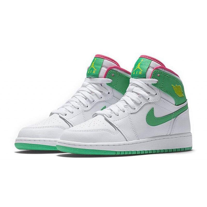 Air Jordan 1 Retro High'Easter' 2017 GG White/Gamma Green-Vvy Pnk-Cybr 籃球鞋/運動鞋 (332148-134) 海外預訂
