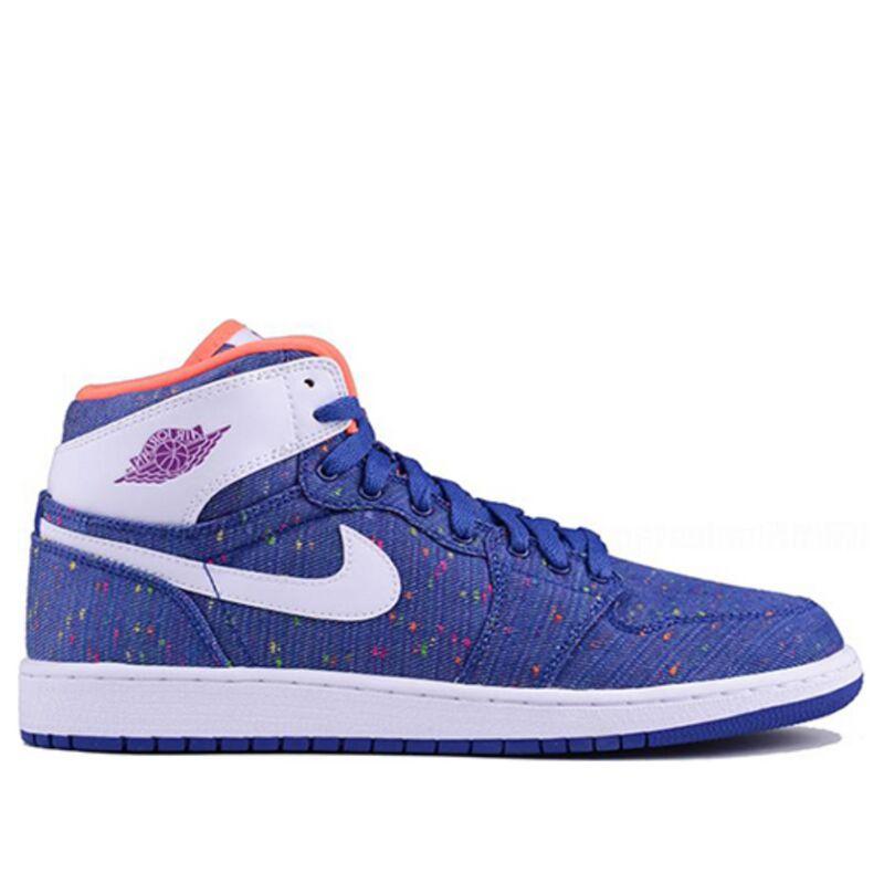 Air Jordan 1 Retro High'Deep Royal' GS Deep Royal Blue/White-Purple Dusk 籃球鞋/運動鞋 (332148-411) 海外預訂