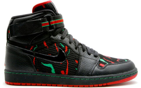 Air Jordan 1 High Strap 'A Tribe Called Quest' Black/Varsity Red-Clssc Green 籃球鞋/運動鞋 (342132-062) 海外預訂