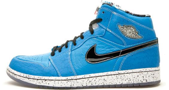 Ruff N Tuff x Air Jordan 1 Retro 'Quai 54' Laser Blue/Black-White 籃球鞋/運動鞋 (372389-401) 海外預訂