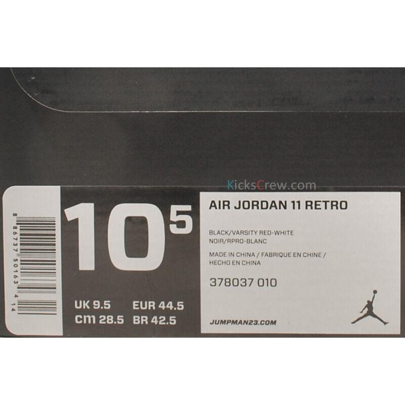 Air Jordan 11 Retro Bred 籃球鞋/運動鞋 (378037-010) 海外預訂