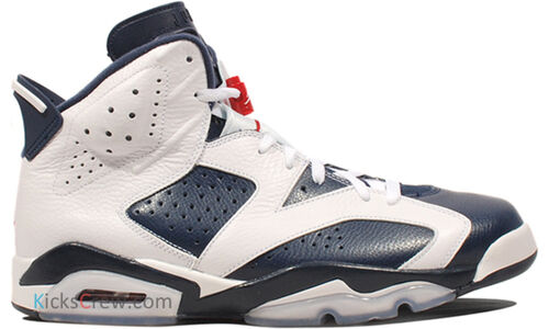 Air Jordan 6 Retro Olympic 籃球鞋/運動鞋 (384664-130) 海外預訂