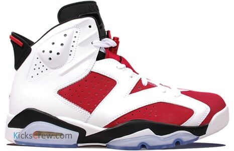 Air Jordan 6 Retro Carmine 籃球鞋/運動鞋 (384664-160) 海外預訂