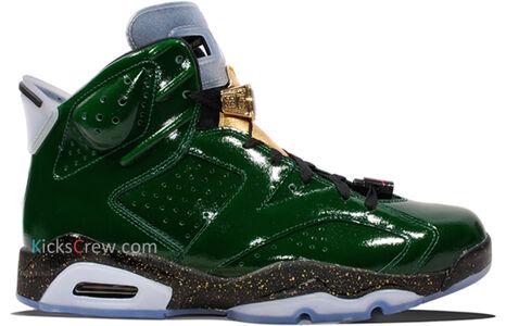 Air Jordan 6 Retro CC Championship Cigar - Pro Green 籃球鞋/運動鞋 (384664-350) 海外預訂