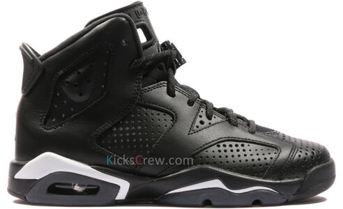 Air Jordan 6 Retro BG Black Cat 籃球鞋/運動鞋 (384665-020) 海外預訂
