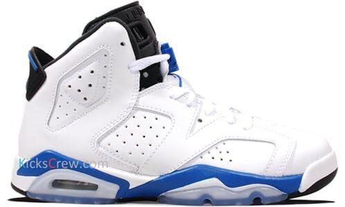 Air Jordan 6 Retro BG Sport Blue 籃球鞋/運動鞋 (384665-107) 海外預訂
