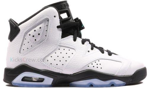 Air Jordan 6 Retro BG White 籃球鞋/運動鞋 (384665-122) 海外預訂