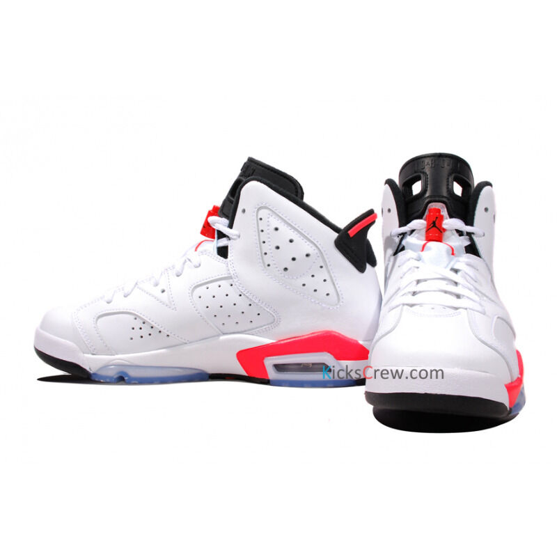 Air Jordan 6 Retro BG White Infrared 籃球鞋/運動鞋 (384665-123) 海外預訂