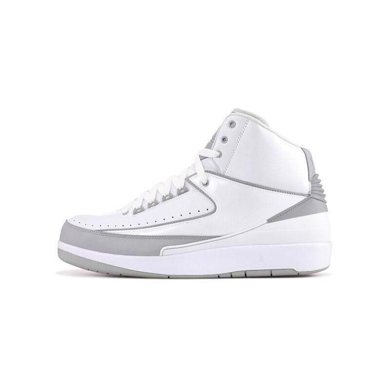 Air Jordan 2 Retro '25th Anniversary' White/Metallic Silver-Ntrl Grey 籃球鞋/運動鞋 (385475-101) 海外預訂