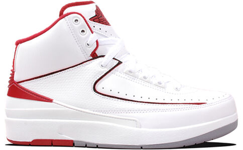 Air Jordan 2 Retro White Varsity Red 籃球鞋/運動鞋 (385475-102) 海外預訂