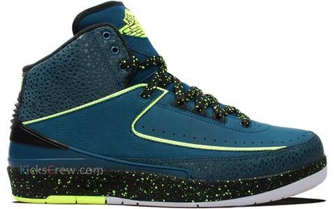 Nikr Air Jordan 2 Retro Nightshade Volt Ice 籃球鞋/運動鞋 (385475-303) 海外預訂