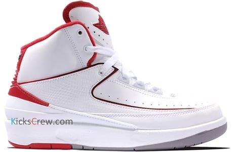 Air Jordan 2 Retro BG White Varsity Red 籃球鞋/運動鞋 (395718-102) 海外預訂