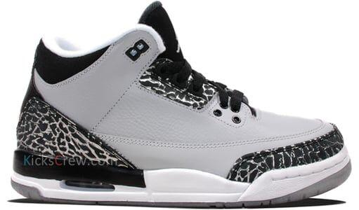 Air Jordan 3 Retro BG Wolf Grey 籃球鞋/運動鞋 (398614-004) 海外預訂